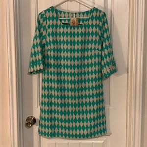 Green checkered dress